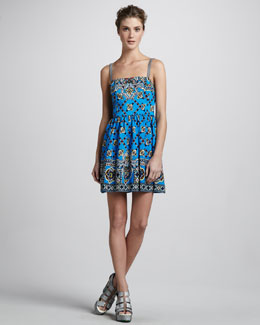 Nanette Lepore Border-Print Camisole Dress