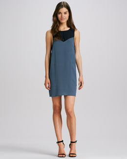 ALC Camille Two-Tone Dress
