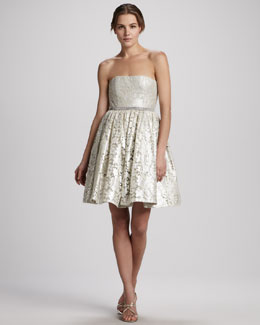 Alice + Olivia Nellie Strapless Cocktail Dress