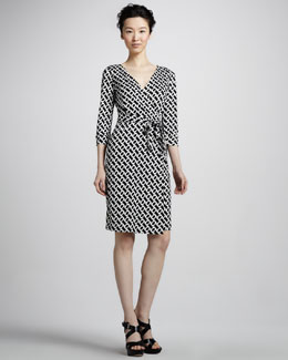 Diane von Furstenberg New Julian Two Chain-Print Wrap Dress
