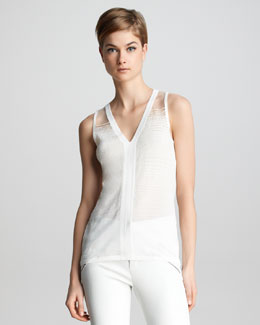 J Brand Ready to Wear Salma Textured Crepe Tank