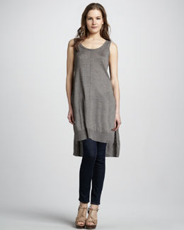 J Brand Ready to Wear Louise High-Low Sleeveless Sweater