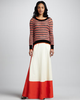 Skaist Taylor Colorblock Full Maxi Skirt