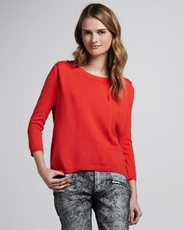 Skaist Taylor Zip-Back Sweater