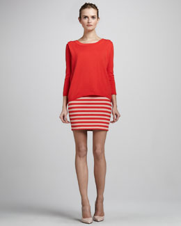 Skaist Taylor Striped Pencil Skirt
