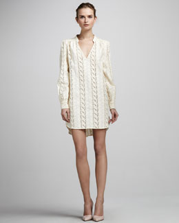Skaist Taylor Ophelia Cotton Eyelet Dress