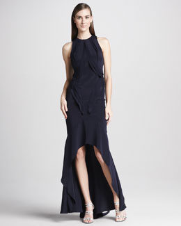 Monique Lhuillier Tiered High-Low Gown