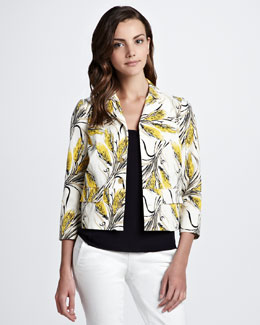 Tory Burch Rimon Printed Silk Jacket