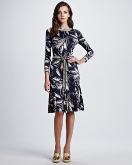 Tory Burch Claire Wheat-Print Dress