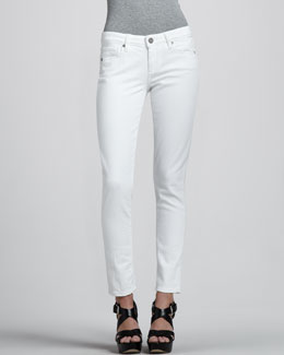 Paige Denim Skyline Ankle Peg Jeans, White