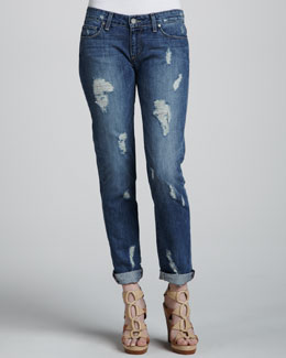 Paige Denim Jimmy Deconstructed Cuffed Jeans