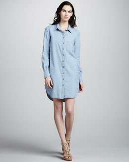 Paige Denim Elliot Chambray Shirtdress