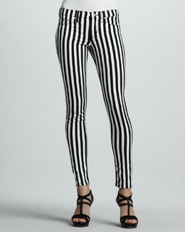 Hudson Kristy Striped Skinny Jeans