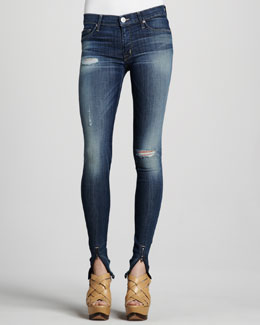 Hudson Juliette Youth Vintage Super-Skinny Ankle-Zip Jeans
