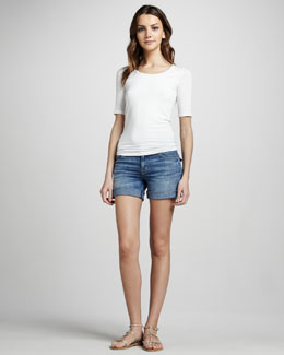 Hudson Croxley Mid-Thigh Denim Shorts