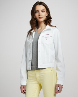 Hudson Denim Jacket, White