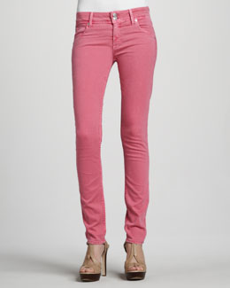 Hudson Collin Signature Skinny Jeans, Sueded Rose