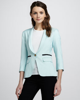Smythe Shawl-Collar One-Button Blazer