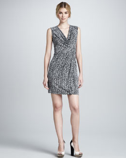 Diane von Furstenberg Noe Sleeveless Snake-Wave Dress