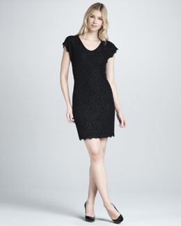 Diane von Furstenberg Wanda Short-Sleeve Lace Dress