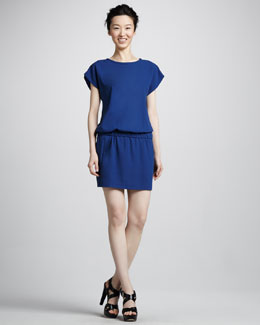 Diane von Furstenberg Tara Cap-Sleeve Drop-Waist Dress