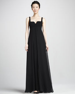 Diane von Furstenberg Asti Two Silk Notch-Neck Maxi Dress