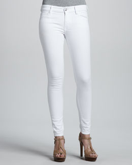Koral Relaxed Cigar Destroyed Jeans, White