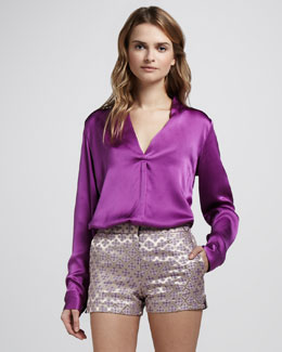 Elizabeth and James Mirta Satin Blouse