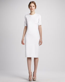 Tibi Short-Sleeve Knit Dress
