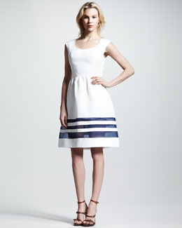 Nonoo Cristina Sheer-Stripe Faille Dress