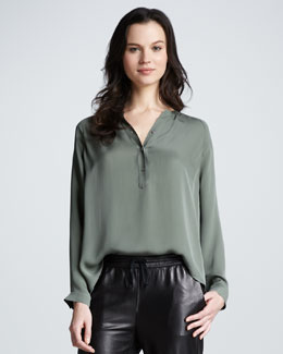 Vince Loose Silk Blouse