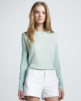 Vince Cotton/Cashmere Sweater