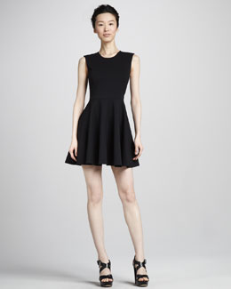 Diane von Furstenberg Jeannie Fit-and-Flare Dress, Black