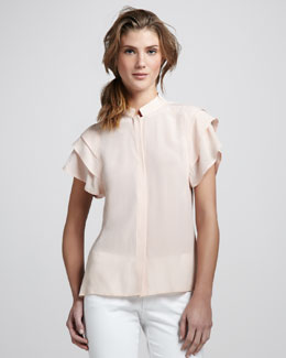 Rachel Zoe Durham Tiered-Sleeve Blouse
