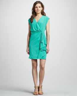 Rachel Zoe Hannah Draped Dress, Mint