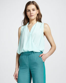 Rachel Zoe Clara High Low Surplice Top