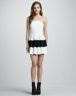 Rachel Zoe Margaret Colorblock Strapless Dress
