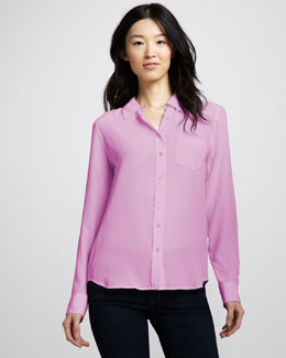 Equipment Brett Super Vintage Wash Blouse, Primrose