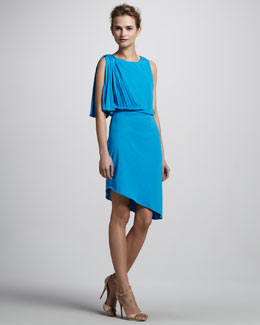 Halston Heritage Dress with Pleated Shoulder