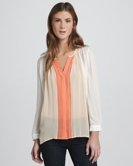 Joie Ombre Tri-Tone Long-Sleeve Top