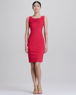 Elie Tahari Patrina Zipped Back Sheath Dress