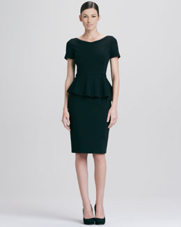 Elie Tahari Helma Peplum Dress