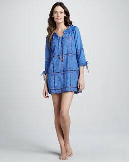 Letarte Tie-Sleeve Cutout Coverup