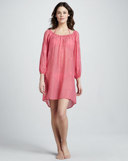 Letarte Hawaiian Valentine Embroidered Coverup