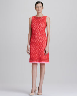 Elie Tahari Alyse Diamond Lace Dress