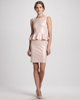 Alice + Olivia Tracey Shiny Peplum Dress