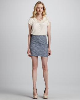 MARC by Marc Jacobs Miranda Short Tweed Pencil Skirt