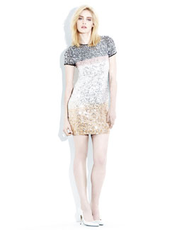 Diane von Furstenberg Barbie Sequin-Embellished Silk Dress
