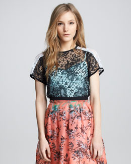 Nanette Lepore Just Dance Lace Top