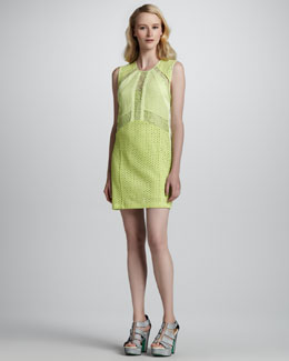 Nanette Lepore All Night Perforated Lace Dress